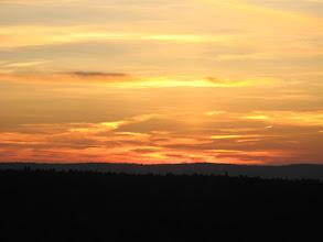 Photo: Zachód słońca w lutym podczas wypadu na narty do Arłamowa