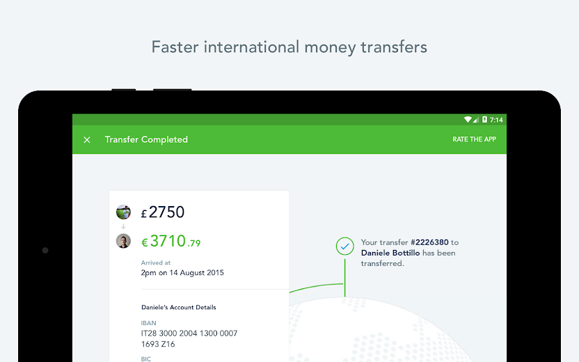 Screenshot 11 for TransferWise's Android app'