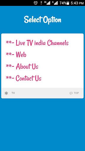 Live TV India Channels & Movie 2.0 screenshots 1