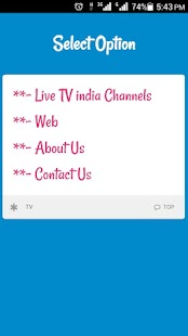 Live TV India Channels & Movie- screenshot thumbnail