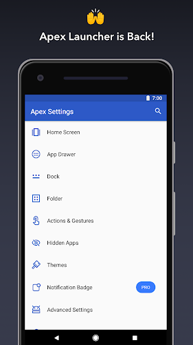 Apex Launcher - Customize,Secure,and Efficient Android App Screenshot