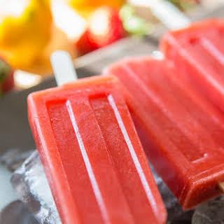Sweet & Tart Strawberry Lemon Popsicles.