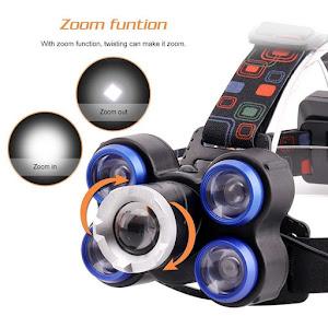 Lanterna frontala de cap 5 LED reglabila cu acumulator