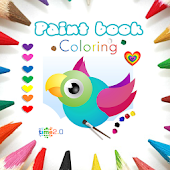 Paint Coloring Book for Kids