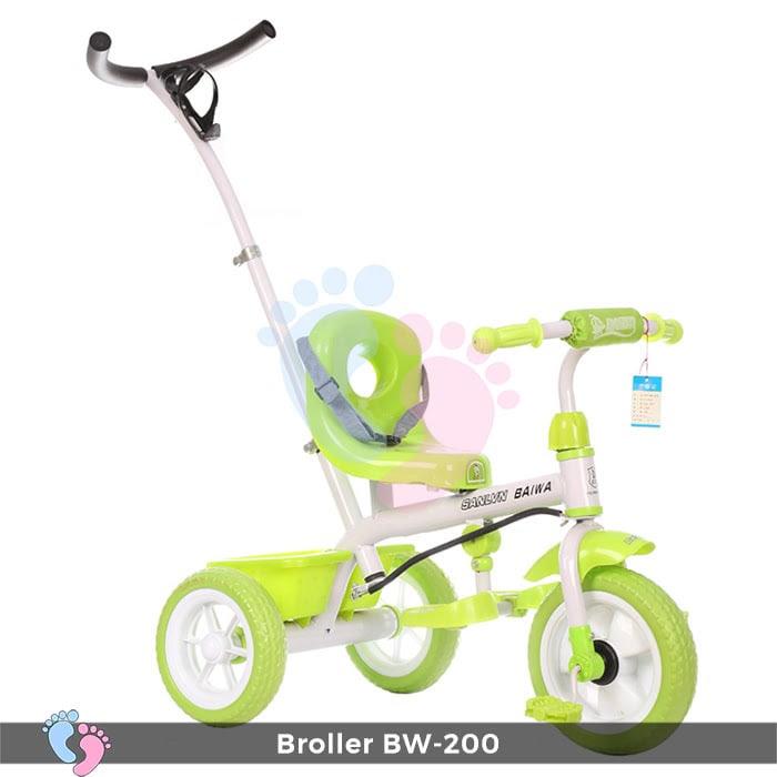 Kết quả hình ảnh cho Xe đạp đẩy 3 bánh Broller XD3-200