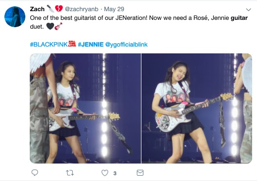 jennie tweet 1