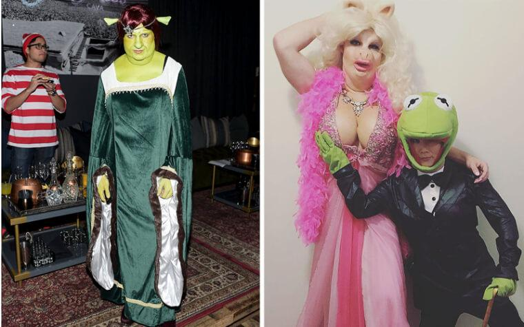 Colton Haynes Is Unrecognizable As Fiona And Miss Piggy