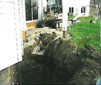 The hole dug