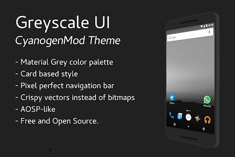 Greyscale - CM13 Theme- screenshot thumbnail