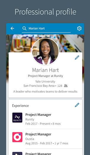 Screenshot 1 for LinkedIn's Android app'