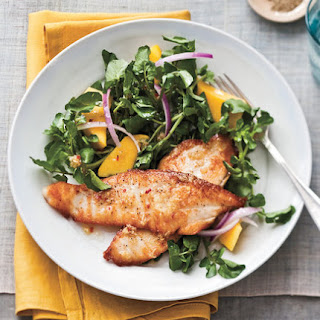 Seared Tilapia With Watercress-Mango Salad