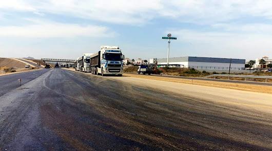 Reordenación del tráfico en la carretera Vera-Garrucha por las obras