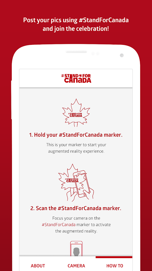 #StandForCanada- screenshot
