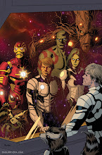 Photo: GUARDIANS OF THE GALAXY #2 VARIANT COVER. 2013.Ink(ed by Joe Rivera) on bristol board, 11 × 17″.