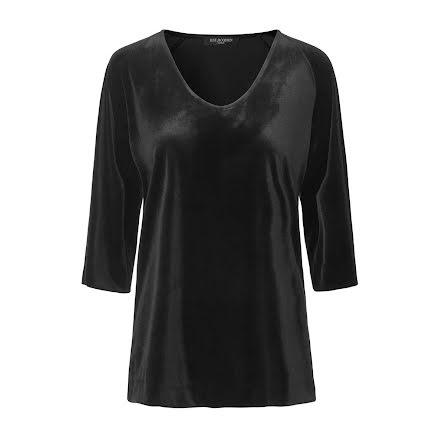 Ilse Jacobsen Talula velvet blouse black