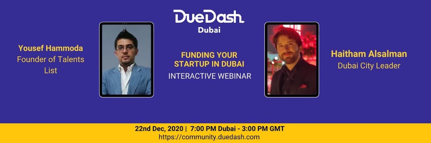 DueDash Dubai: Funding your startup in Dubai