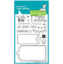 Lawn Fawn Clear Stamps 4X6 - Birthday Tags