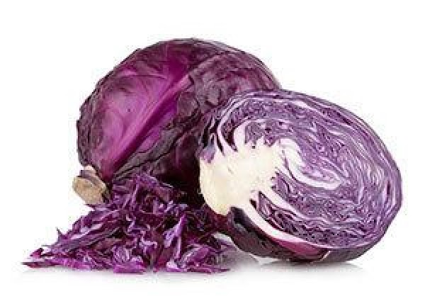 BLUE: Put a few red cabbage leaves in a small pot with 1 cup...
