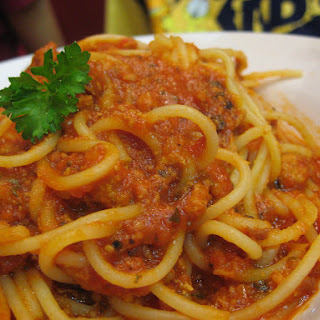 Spaghetti Bolognese for Party Celebration #PastaWorld