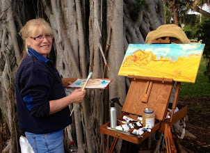 Photo: Diane Hagg painting at Dubois Park