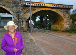 Photo: Sheila by the bridge to nowhere, Cuenca