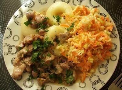 Grandmas Raw Veggie Salad Surowka Babuni