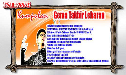 Mp3 Gema Takbir Lebaran Non Stop Aplikacje W Google Play