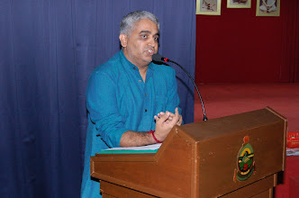 Photo: Mr. Giri, President of TAPAS, welcoming the parents.