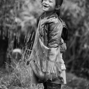 Genuine Laugh  by Naveen Rai - People Street & Candids ( child, face, laugh, portret, happy, street, candid, portrait, nepal, street photography,  )