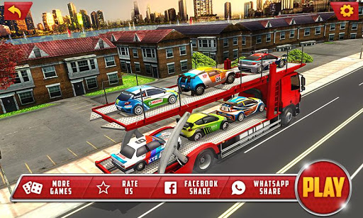 Vehicle Transporter Trailer Truck Game 1.4 screenshots 1