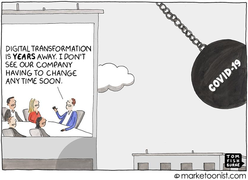 Digital Transformation cartoon | Marketoonist | Tom Fishburne