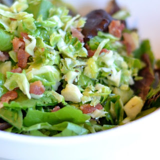 Chopped Brussels Sprouts Salad with Bacon