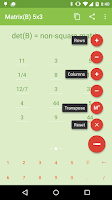 Screenshot of Matrix calculator