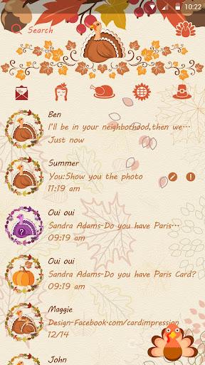 GO SMS GIVING THEME Screenshot
