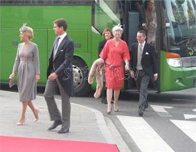 Photo: Crown Prince Pavlos and Crown Princess Marie Chantal of Greece, Princess Alexandra zu Sayn-Wittgenstein-Berleburgand husband Count Jefferson of Pfeil and Klein-Ellguth