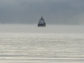 Photo: Lake freighter on Lake Huron