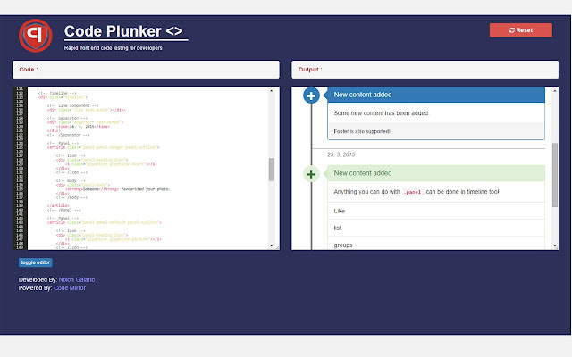 Code Plunker (Live HTML CSS Editor)