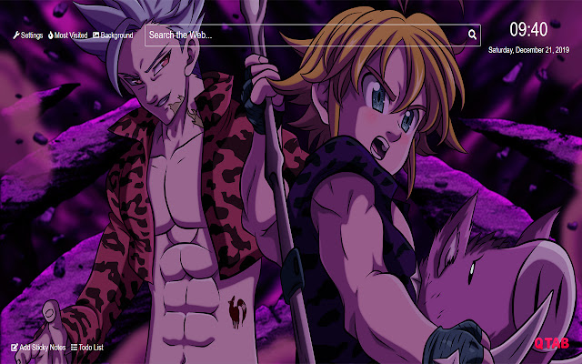 Seven Deadly Sins Ban Wallpaper for New Tab