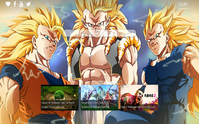 Dragon Ball Z Wallpaper New Tab Background