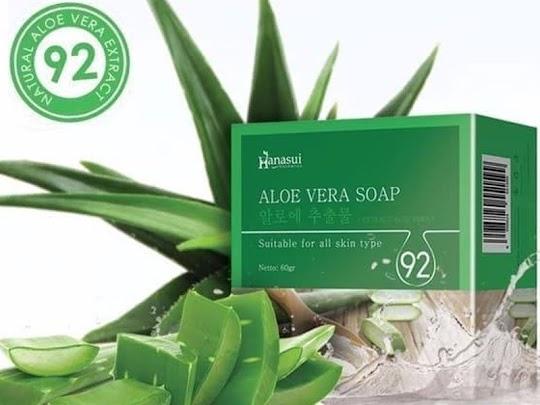 Sabun Aloe Vera HANASUI soap wajah lidah buaya aloevera membersihkan kulit tubuh tabir surya alam