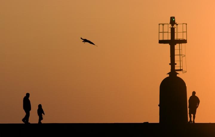 Molo al tramonto di vagero