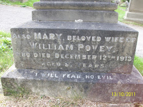 Photo: 9-Mary, beloved wife of W.P. died December 12th 1913, aged 81 years