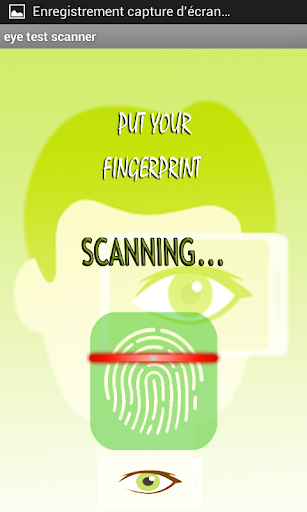 scanner eye test - prank