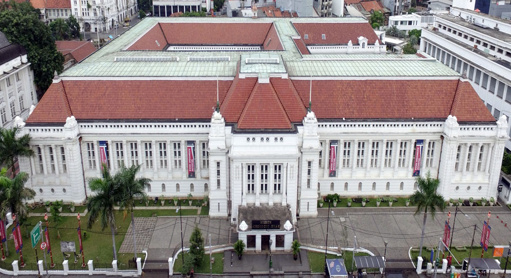 museum bank indonesia jakarta eagle view