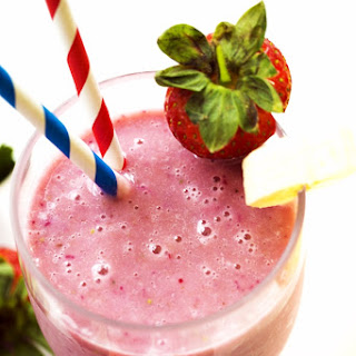 Vegan- Dairy Free 2 Ingredient Strawberry Smoothie.