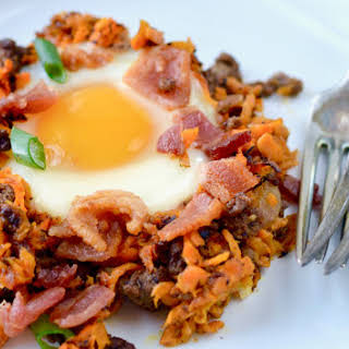 Paleo Bacon Burger Breakfast Hash.