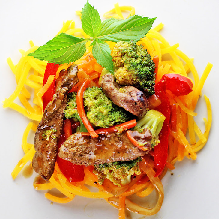 Butternut Squash Liver Broccoli Stir Fry