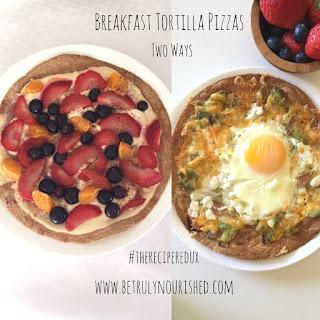 Breakfast Tortilla Pizza (Savory)