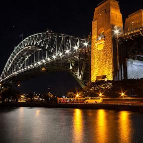 Sydney Harbour Bridge by Daniel Wheeler - Buildings & Architecture Public & Historical ( sydney, australia, bridge, long exposure, history )