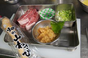 黒千石納豆とんかつ定食・材料